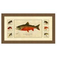 Trout and Fly II Framed Art Print