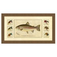 Trout and Fly III Framed Art Print
