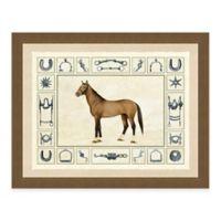 Horse and Horse Bits II Framed Art Print