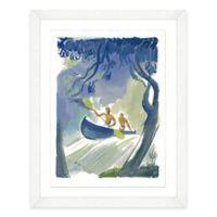 Framed Giclée Watercolor Canoe Print Wall Art