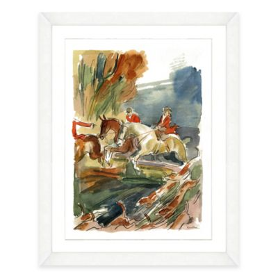 Watercolor Horseback Riding Framed Art Print