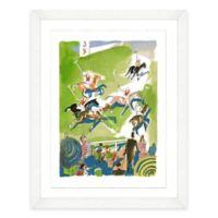 Framed Giclée Watercolor Polo Print Wall Art