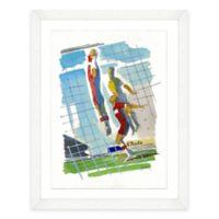 Framed Giclée Watercolor Volleyball Print Wall Art