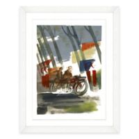 Framed Giclée Watercolor Motorcycle Print Wall Art