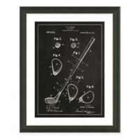 Golf Club Patent Framed Print in Slate