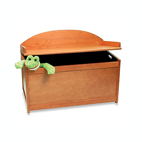 Pecan Toy Chest Bench Buybuy Baby