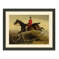 The Framed Giclée Horse and Rider Print Wall Art