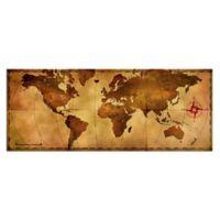 Old World Map Metal Wall Art