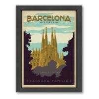 World Travel Barcelona Framed Wall Art by Anderson Design Group