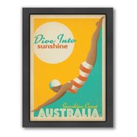 """Dive Into Sunshine"" Framed Wall Art by Anderson Design Group"