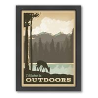 """""""I'd Rather Be Outdoors"""" Framed Wall Art by Anderson Design Group"""