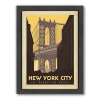 Art & Soul of America™ New York City: Manhattan Bridge Framed Wall Art by Anderson Design Group