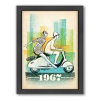 Anderson Design Group 1967 Scooter Girls Framed Wall Art