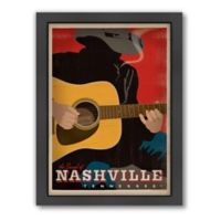 Sound of Nashville Smoking Guitar Man Framed Wall Art by Anderson Design Group