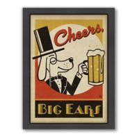 """Cheers, Big Ears"" Framed Wall Art by Anderson Design Group"