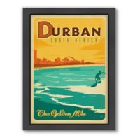 World Travel Durban, South Africa Framed Wall Art by Anderson Design Group