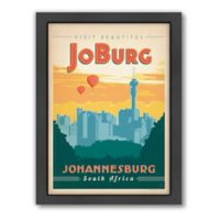 World Travel Johannesburg Framed Wall Art by Anderson Design Group