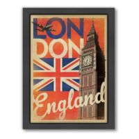 World Travel London Flag Framed Wall Art by Anderson Design Group