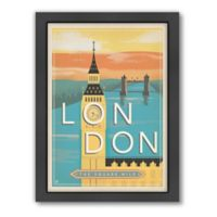 World Travel London Mod Framed Wall Art by Anderson Design Group
