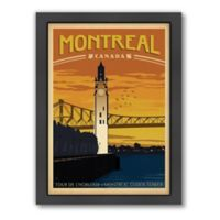 World Travel Montreal Framed Wall Art by Anderson Design Group
