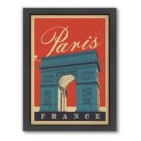 World Travel Paris, Arc de Triomphe Framed Wall Art by Anderson Design Group