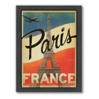 World Travel Paris Flag Framed Wall Art by Anderson Design Group
