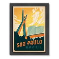 World Travel Sao Paulo Framed Wall Art by Anderson Design Group
