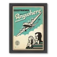 Travel By Plane Framed Wall Art by Anderson Design Group