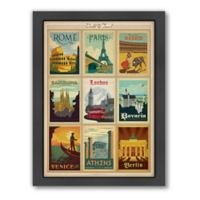 World Travel Multi-Image Print 1 Framed Wall Art by Anderson Design Group