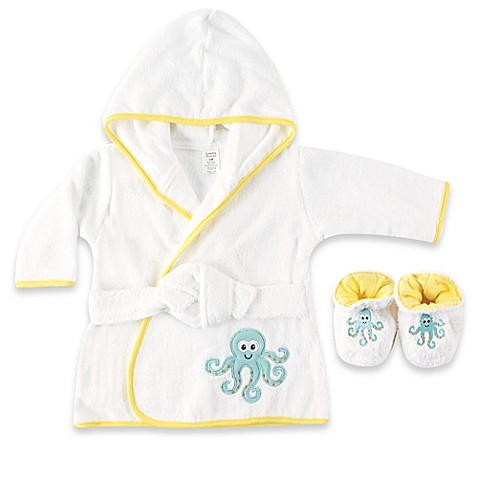 baby vision luvable friends octopus bathrobe and slippers set bed bath beyond. Black Bedroom Furniture Sets. Home Design Ideas