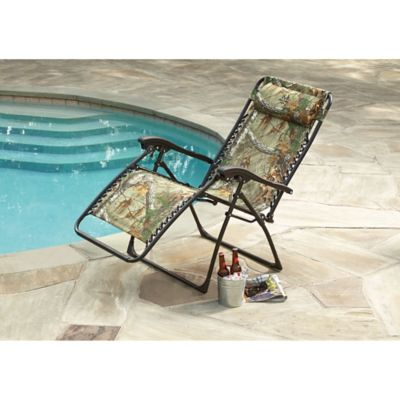 relaxer zero gravity chair in realtree camo