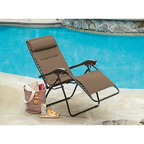 Image Of Mesh Relaxer Zero Gravity Chair In Champagne