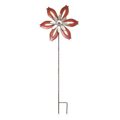 Rustic Windmill Spinner Kinetic Garden Stake