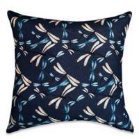 Playful Dragonflies Square Throw Pillow