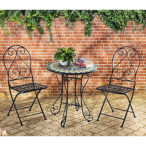 Bed Bath And Beyond Mosaic Bistro Set