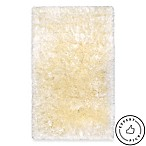 Paramount 2-Foot 2-Inch x 3-Foot 8-Inch Decorative Shag Bedside Rug in Ivory
