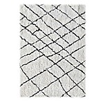 Linon Home Tangier 5-Foot x 7-Foot Area Rug in Ivory/Black