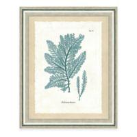 Framed Giclee Teal Seaweed Print I Wall Art