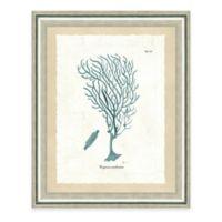 Framed Giclee Teal Seaweed Print II Wall Art