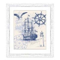 Framed Giclée Nautical Scene Print I Wall Art
