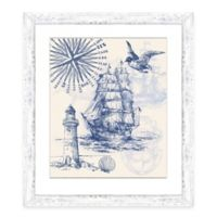 Framed Giclée Nautical Scene Print II Wall Art