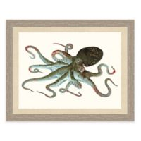 Framed Giclée Octopus Print Wall Art