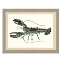 Framed Giclée Lobster Print Wall Art