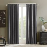 Madison Park Aiden 84-Inch Grommet Top Window Curtain Panel in Grey