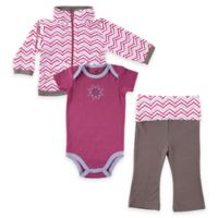 BabyVision® Size 18-24M Yoga Sprout 3-Piece Lotus Jacket, Bodysuit and Pant Set in Purple