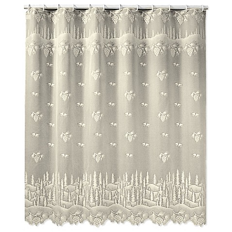 Heritage Lace Pinecone Shower Curtain Bed Bath Beyond