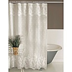 Heritage Lace Floret Shower Curtain White