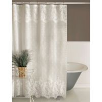 Heritage Lace Floret Shower Curtain White