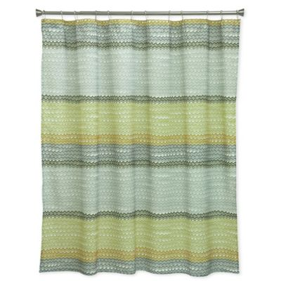 Bacova Rhythm Shower Curtain In Yellow/Grey