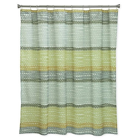 Bacova Rhythm Shower Curtain In Yellow Grey